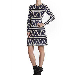 BCBGMaxazria Malina Zigzag A-Line Dress